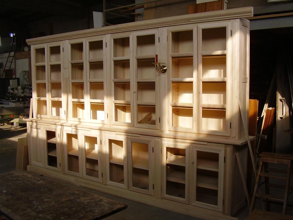 Libreria con ante da verniciare | Artigianlegno