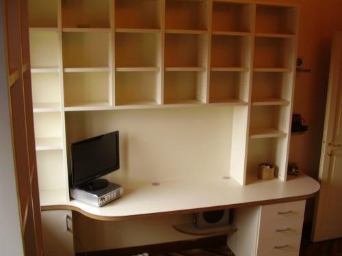Libreria con piano scrivania | Artigianlegno